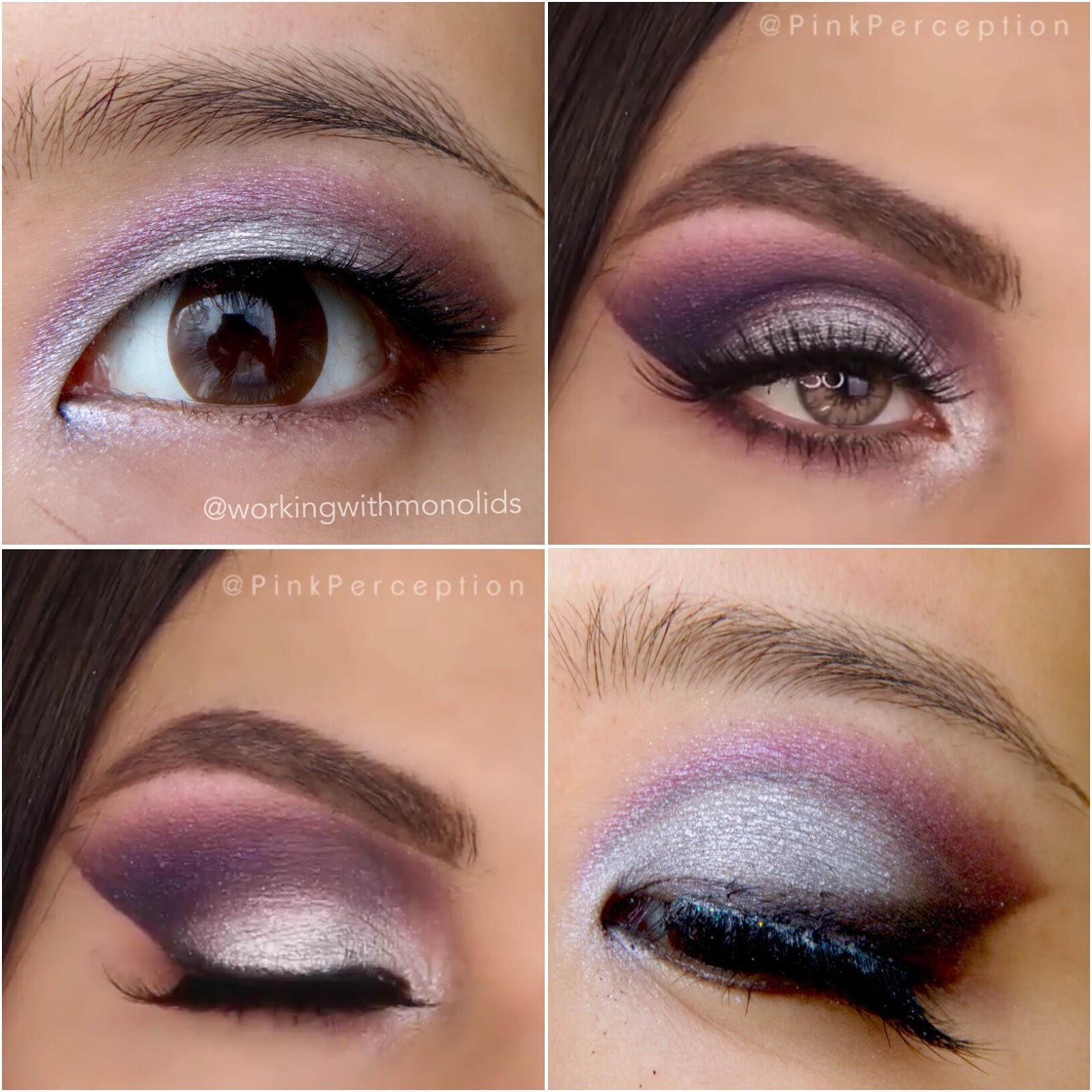 Workingwithmonolids tutorial silver purple look inspired by she wanted to see how itll look modified for monolids and i decided to give it a try heres how mine looks baditri Choice Image