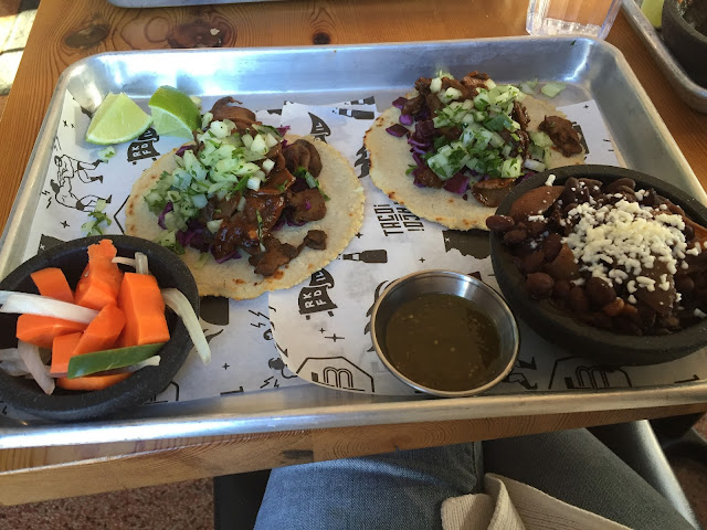 Mushroom tacos at Taco Betty's in Rockford, IL