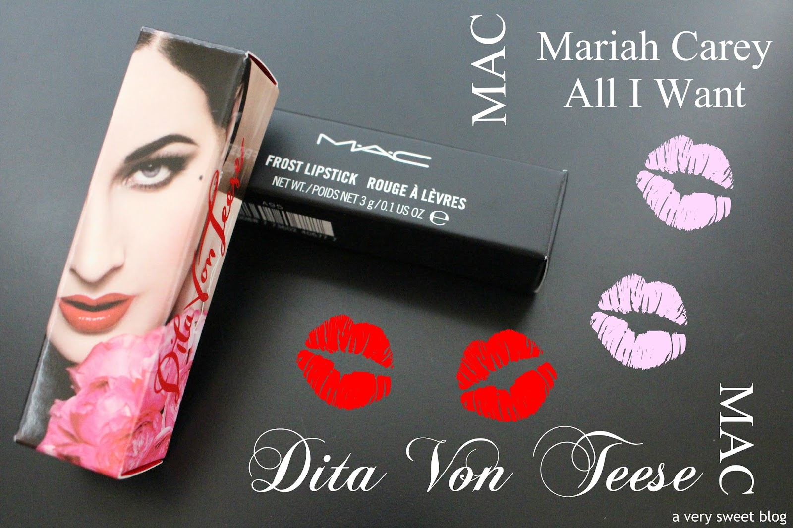 136d6ad76a9f MAC Mariah Carey All I Want and Dita Von Teese Lipstick Review ...