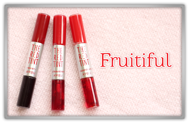 A'PIEU The Red Tint Berry, Strawberry Grapefruit Haul Review kbeauty lip beauty blogger korean 어퓨 더 빨간 틴트