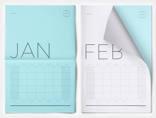 Free 2018 printable monthly calendar designs