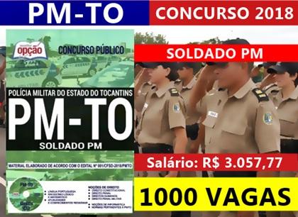 Concurso PM-TO 2018