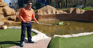 Adventure Golf course at Haigh Woodland Park in Wigan