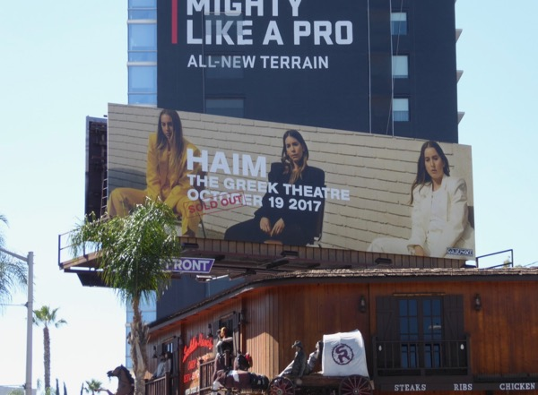 HAIM Greek Theatre concert 2017 billboard