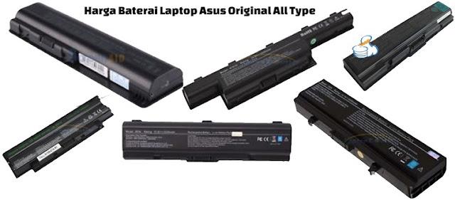 harga baterai laptop asus original