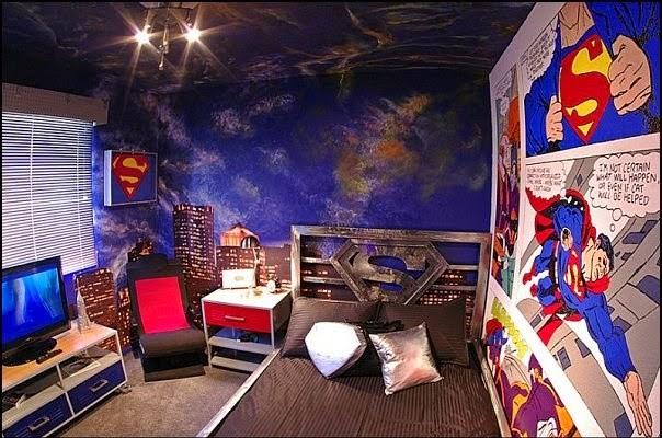 Habitación temática Superman