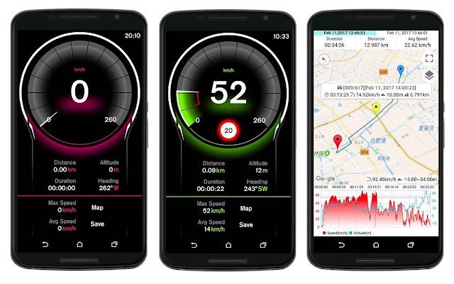 تحميل تطبيق يمكن تتبع السرعة والمسافة والوقت والموقع speed gps pro apk [النسخة المدفوعة مجانا]