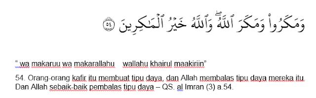 QS alImran ayat 54