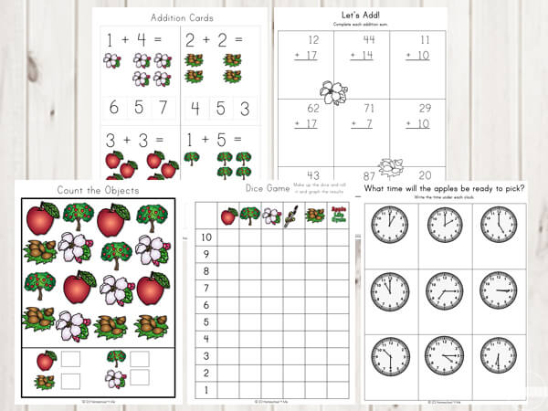 apple-counting-addition-practice-telling-time-free-printables