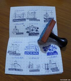 Carimbos no passaporte da Estrada Real.
