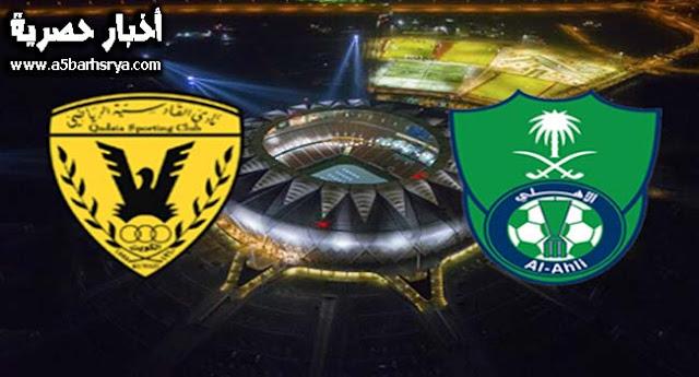 نتيجة مباراة الأهلي السعودي والقادسية اليوم يلاشوت 24-11-2017 ملخص مباراة الأهلي والقادسية الأمس في الدوري السعودي