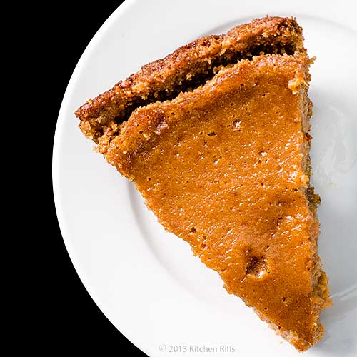 Sweet Potato Pie with Walnut Crust