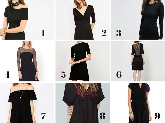 Ma sélection de robes noires à moins de 20 euros