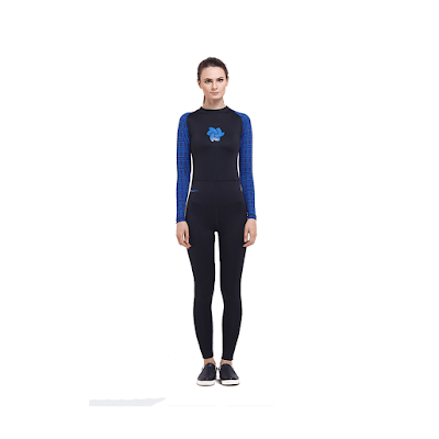 Model baju renang tiento black blue tribal wetsuit