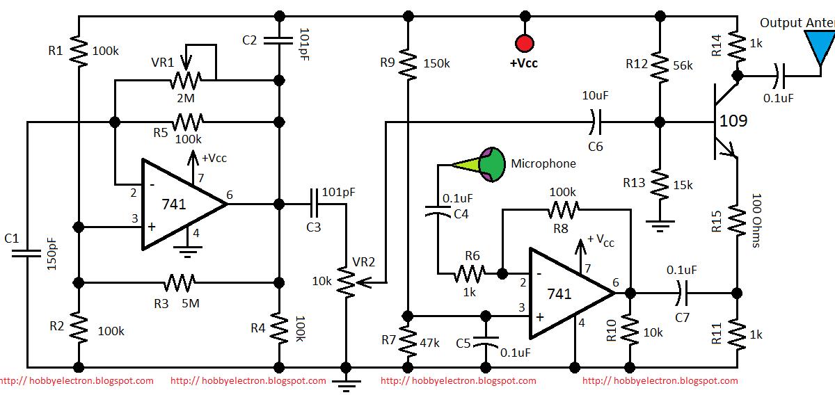 Hobby in Electronics: AM Transmitter Circuit Diagram Using