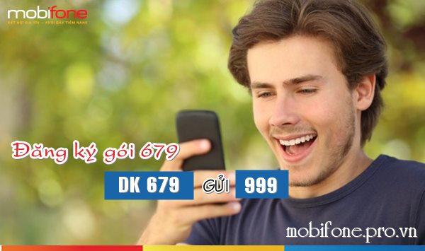 Đăng ký gói 679 Mobifone nhận ưu đãi thoại, sms và data 3G