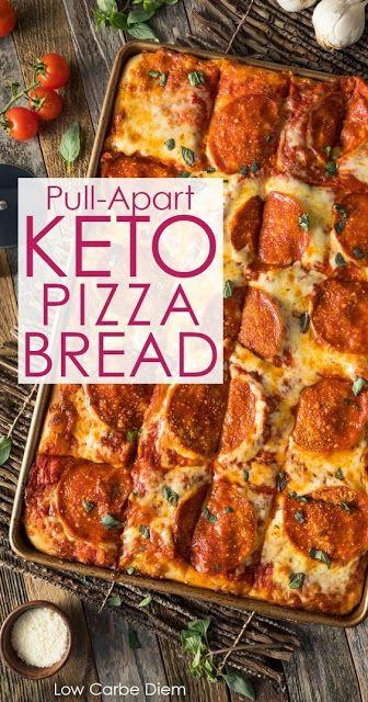 Keto Pizza Bread Pulls Apart|Keto Recipes