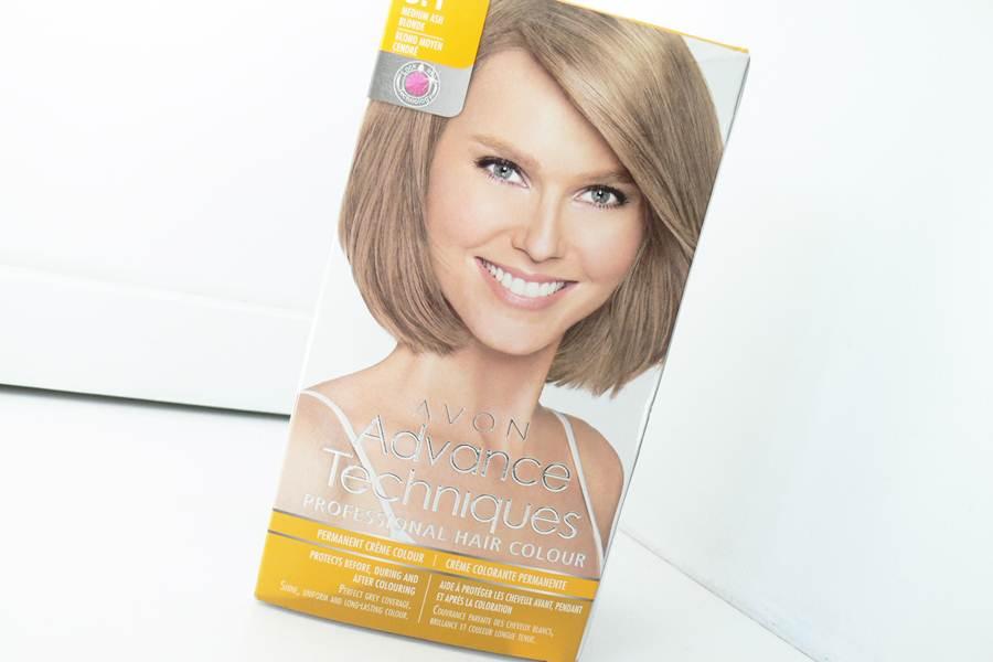 farba Avon Advance Techniques Średni Popielaty Blond 8.1 opakowanie