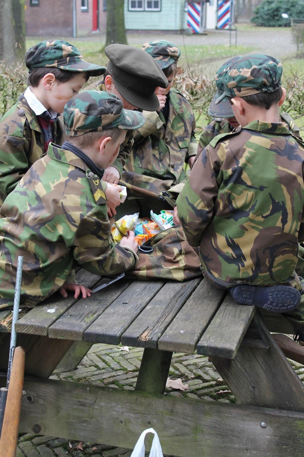 soldaat camouflage schmink
