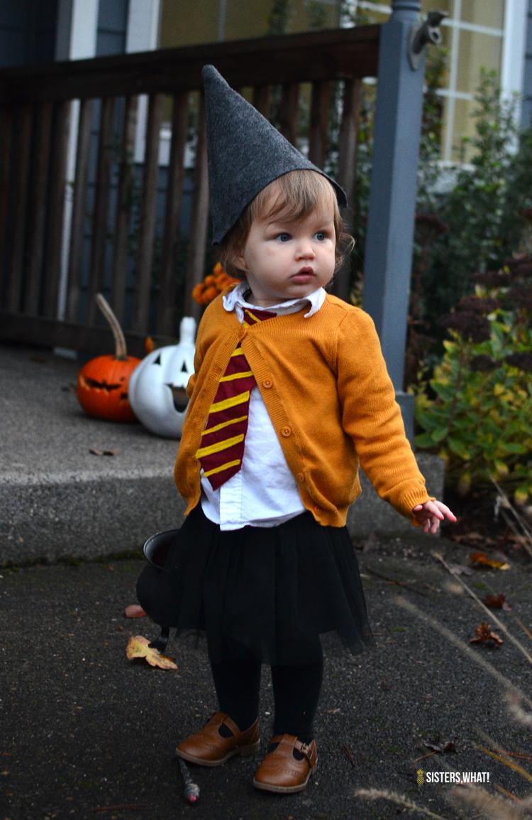 Costume Halloween Hermione.Easy Diy Little Witch Hermione Toddler Halloween Costume Sisters