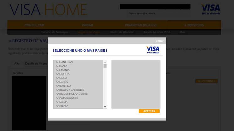 www.visa home aviso de viaje