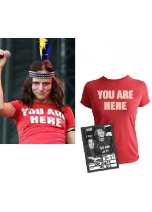 John Lennon YOU ARE HERE T-Shirt worn by Juliette Lewis. PYGear.com