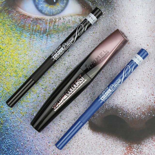 Rimmel New Colour Precise Eyeliner Black Blue Volume Colourist Mascara Lash Tint