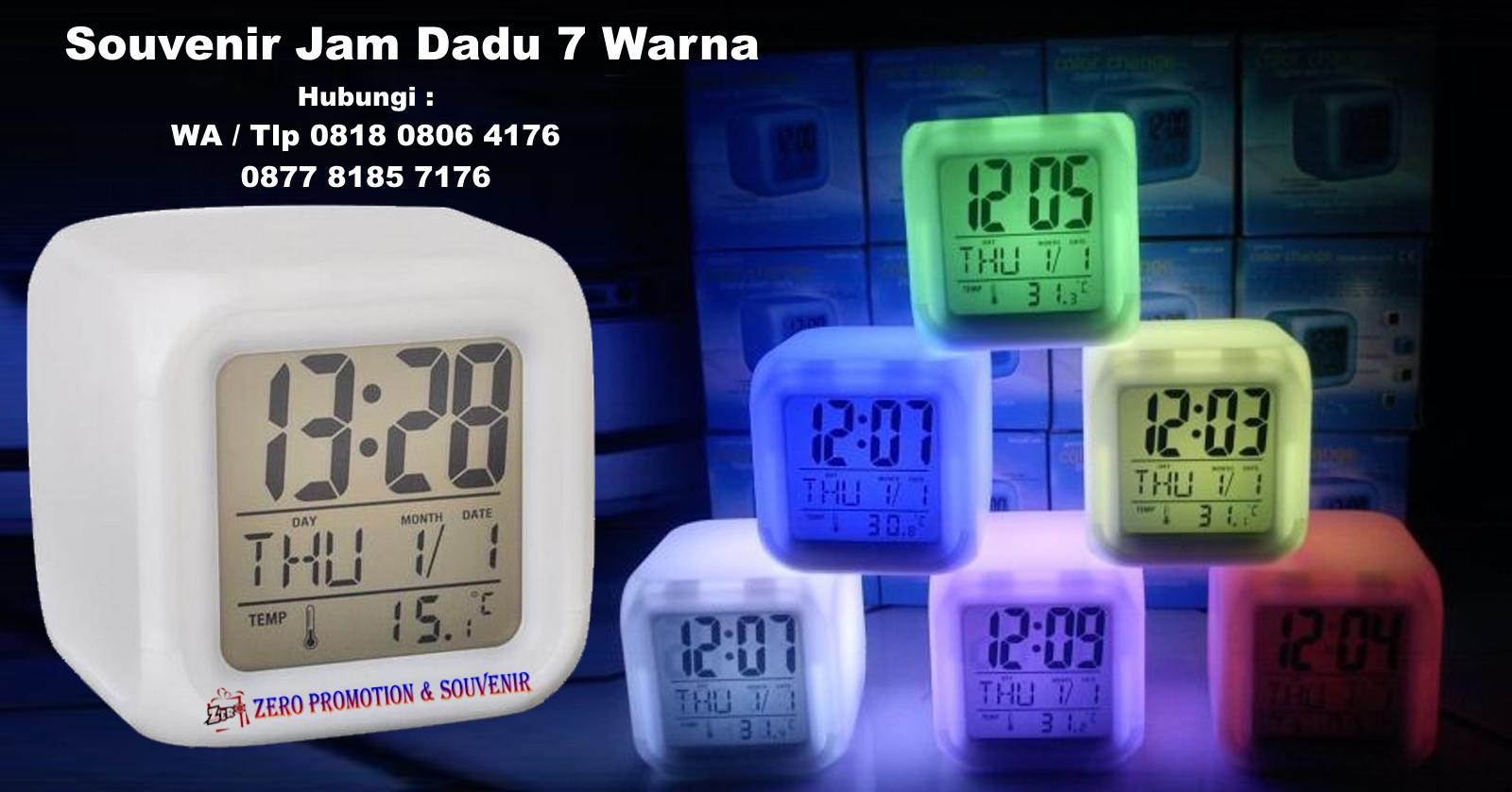 Souvenir Jam Dadu 7 Warna Plus Alarm Dan Termometer  fe94a3b69e