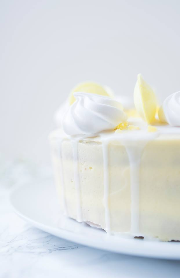 Triple Layer Lemon Sherbet Cake
