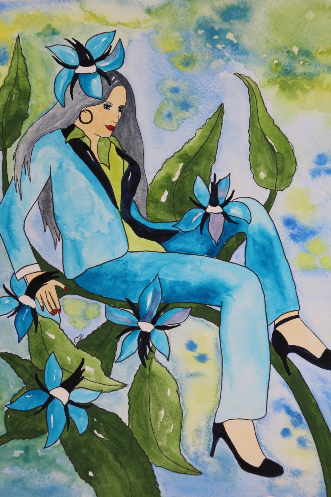 Gurkört akvarell carolin zander