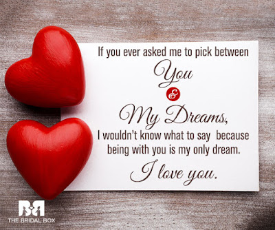Love Quotes about husband: If you ever asked me to pick between you my dreams,