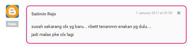 netizen mengeluh tampilan olx