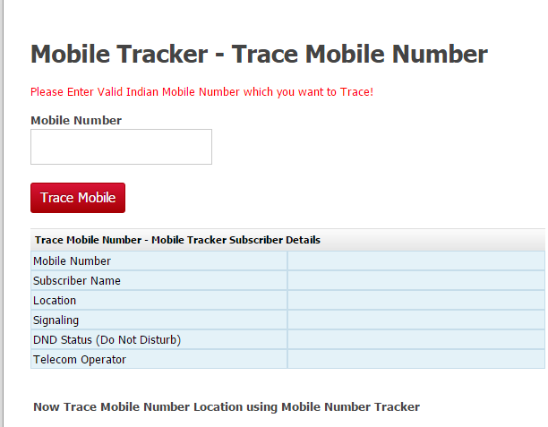 trace mobile number and know the name and address of number owner