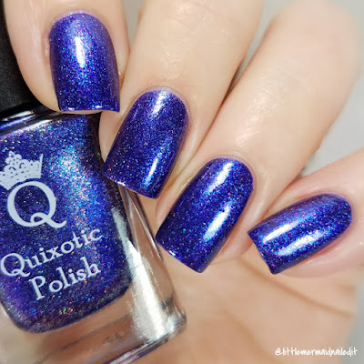 Quixotic Polish COTM Revenge Of The Blue Swatches and Review