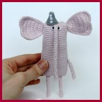 Mini elefantito amigurumi