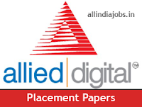 Allied Digital Services Placement Papers