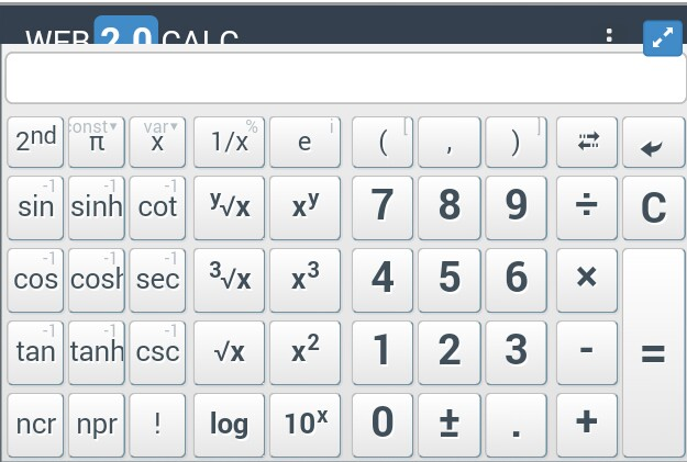 Advanced Calculator For Blogger Blog