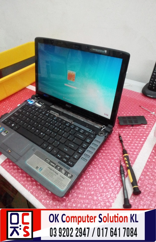 [SOLVED] MASALAH SKRIN ACER ASPIRE 4740G | REPAIR LAPTOP CHERAS 11