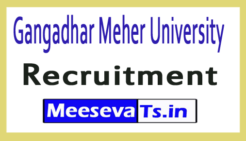 Gangadhar Meher University GMU Recruitment