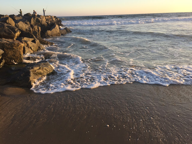 Newport Beach jetty fishermen