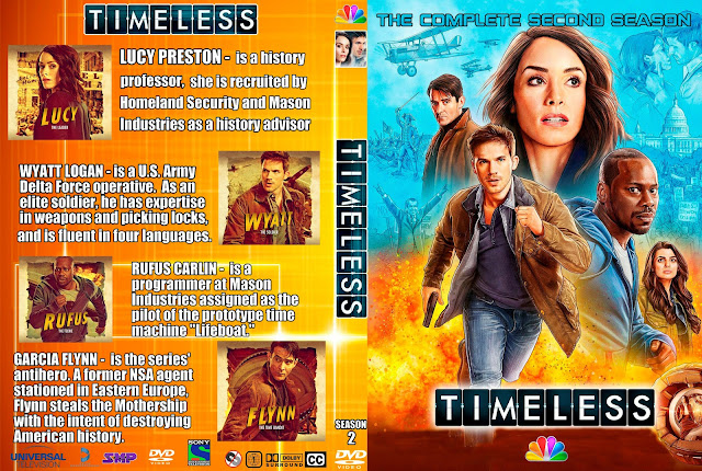 Timeless Season 2 DVD Cover