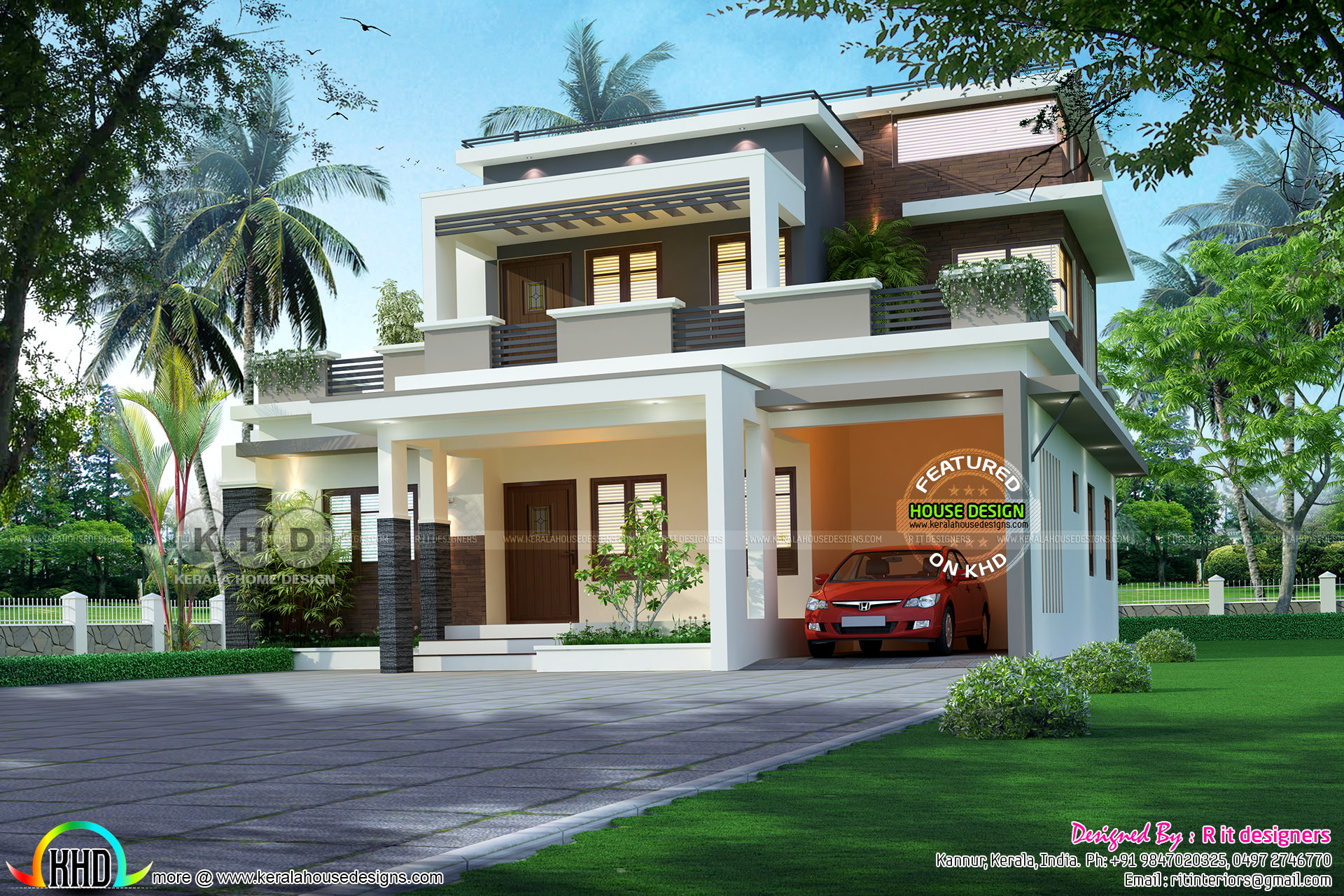 52 lakhs cost estimated contemporary style house plan for House plans with estimated cost to build in kerala