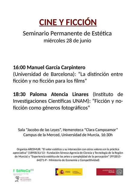 """Seminario Permanente de Estética: """"CINE Y FICCIÓN""""."""