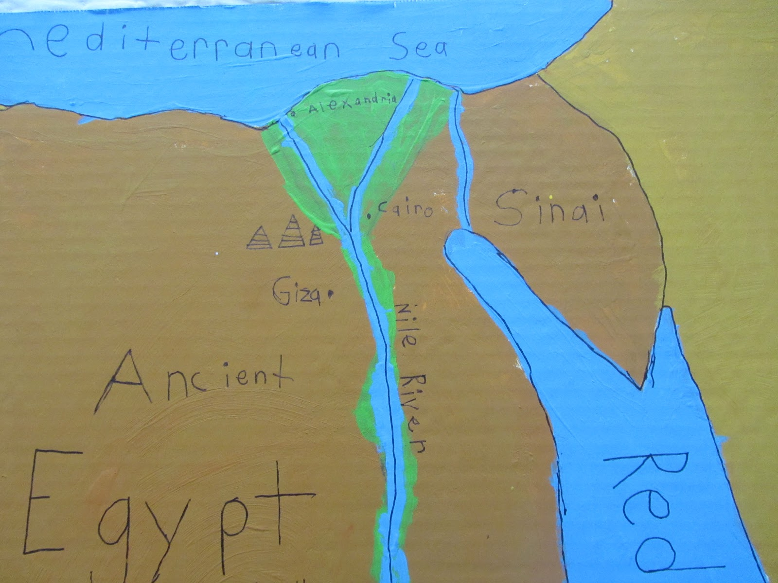 The Unlikely Homeschool: Ancient Egypt Unit Study: Map of Egypt