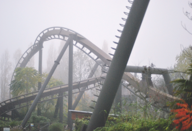 Rollercoaster in the fog