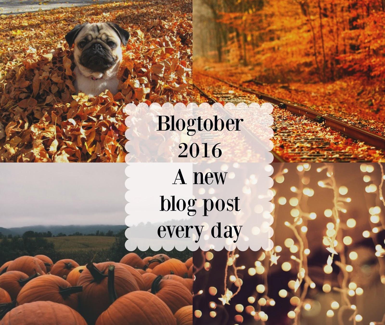 I'm Doing Blogtober 2016!