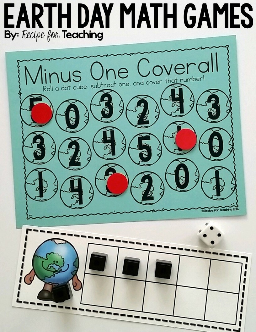 Earth Day Math Games - Recipe for Teaching
