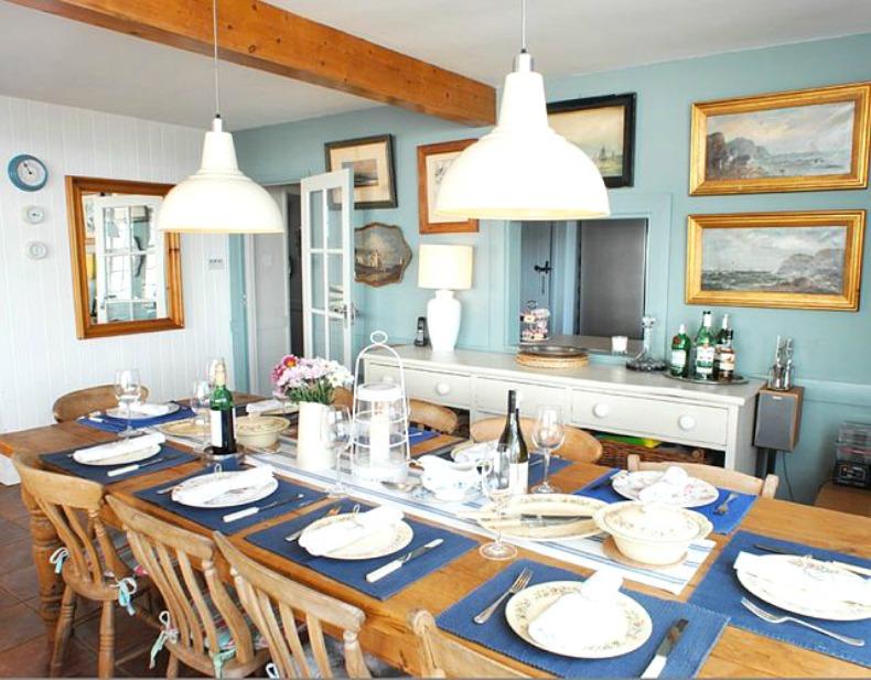 coastal, nautical dining room