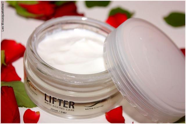 Routine visage anti-âge K-Derm - Laboratoire Vivaligne - Crème de jour Lifter day Kappa Élastine - Blog beauté Les Mousquetettes©