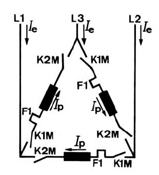 Star Delta Starter control diagram working principle